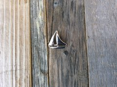 Sterling Silver Sail Boat Pendant