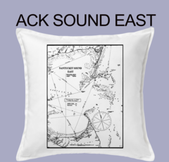 Vintage Harbor Chart Pillow Nantucket Sound East