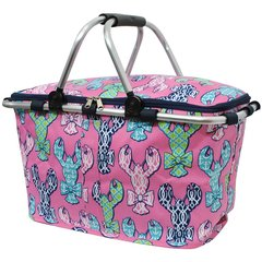 Lobster Print Insulated Picnic/Market Cooler