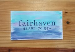 Watercolor Nautical Fairhaven Wood Sign