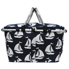 Sailboat Print Insulated Picnic/Market Cooler