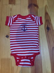Red Striped Onesie with anchor