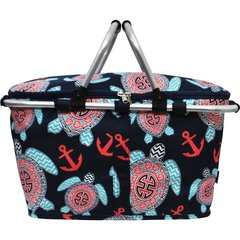 Ocean Sea Turtle Anchor Insulated Collapsible Picnic/Market Cooler