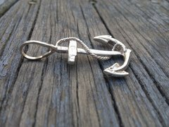 Sterling Silver Solid 3D Anchor pendant