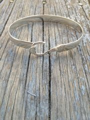 Sterling Silver Fish Hook Bangle