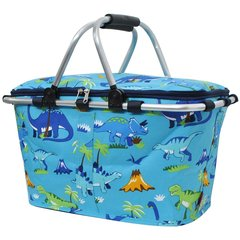 Dinosaur Print Insulated Picnic/Market Cooler