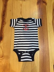 Navy Striped Onsies with anchor