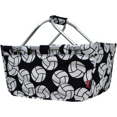 Volleyball Print Collapsible Picnic/Utility Basket