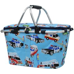 Fire Police Ambulance Print Insulated Picnic/Market Cooler