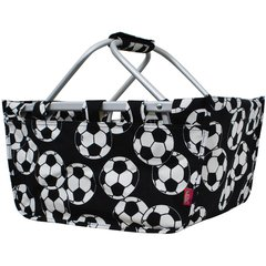 Soccer Print Collapsible Picnic/Utility Basket