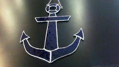 Michelle Lapointe Large Stained Glass Anchor