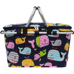 Sea Summer Whale Print Insulated Picnic/Market Cooler