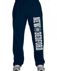 Unisex Navy and White New Bedford Compass Sweatpants Elastic Bottoms With Pockets
