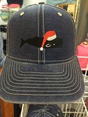 Denim Santa Whale