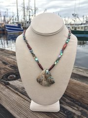 Rustic Abalone Shell Necklace