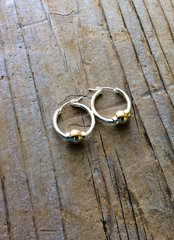 Sterling Silver 14 karat Beach collection hoop earrings