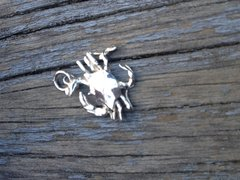 Sterling Silver Large Crab Charm