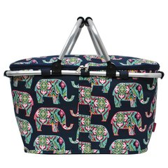 Elephant Print Insulated Picnic/Market Cooler