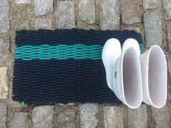 Navy& Turquoise Stripe Doormat