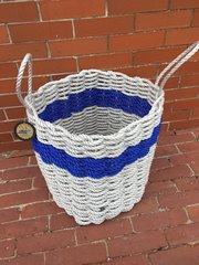 Light Gray & Royal Blue Rope Bin