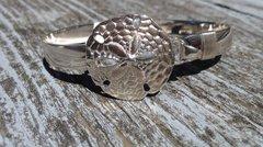 Sterling Silver Large Sand Dollar Bangle