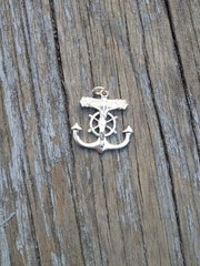 Sterling Silver Fisherman's cross Charm