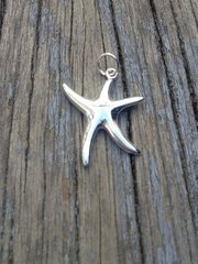 Sterling Silver Medium Starfish Charm