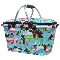 Happy Camper Print Insulated Picnic/Market Cooler
