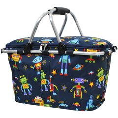 Robot Print Insulated Picnic/Market Cooler