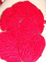 Red Handspun yarn (corriedale wool ) 200 yds