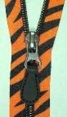 """Tiger safari coil teeth 24"""" separating zipper"""