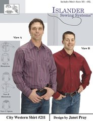 Mens City Western Shirt ( Islander Sewing System )