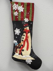 """#209 Me and My Dad  25"""" long snowmen stocking pattern"""