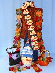 #141 Whimsical seasons ( scarves , purses )