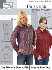 Womens City Western Blouse( Islander Sewing system )