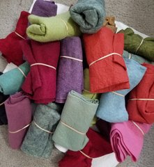 SUMMER SALE ON GRAB BAGS OF  WOOL FELTS 1/8YD. PIECES  - FELTED AND READY-TO-USE