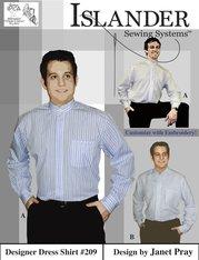 Mens Designer Dress Shirt ( Islander Sewing System )
