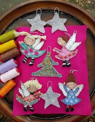 #228 Once upon a Time ornament Angels, trees, moons and star KITS !!!!