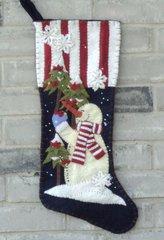 "#222 Helping Hands 25"" long stocking pattern"