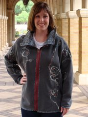 """Kit bundling#208 Free Spirit fitted jacket 2 collar pattern ( xl-2x) zipper ,pattern,sweatshirt, wool felt for collar"