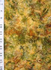 Indonesian Batiks  1 yd cuts ( colorfast) Harvest foliage