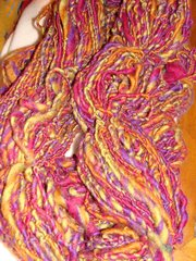 Autumn mix handspun corriedale wool yarn 150 yds