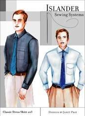 Mens Classic Dress Shirt ( Islander Sewing System )