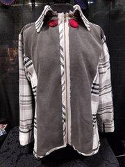 #225 Tailored in Plaid slimmingsweatshirt