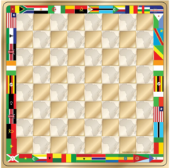 The Africa Game checkers set