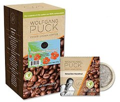 Wolfgang Puck Hawaiian Hazelnut Coffee Pods- Box of 18