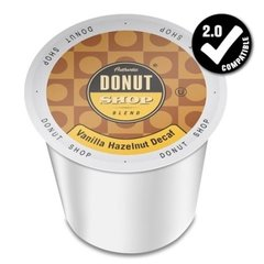 Authentic Donut Shop Vanilla Hazelnut Decaf Single Serve - 24 Count