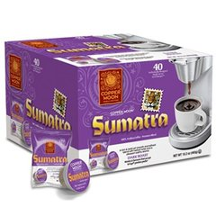 Copper Moon Sumatra Coffee 40 Count AromaCup Single Serve Coffee