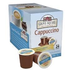Grove Square French Vanilla Cappuccino Single Cup - 24 Count