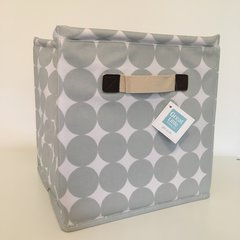 Oilcloth Storage Cubes - Grey